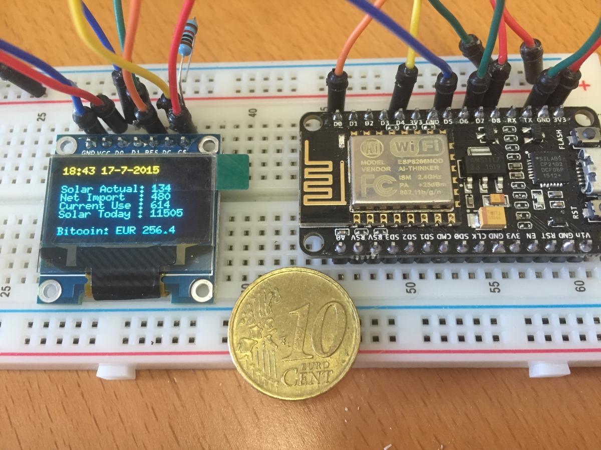MQTT Data display using ESP8266 and OLED display